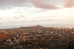 Horizonte hermoso de Oahu, Hawaii imágenes de archivo libres de regalías