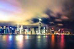 Horizonte imponente de Hong Kong Foto de archivo libre de regalías