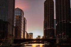 Horizonte los E.E.U.U. de CHICAGO IL foto de archivo libre de regalías