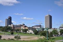 Horizonte moderno de la ciudad de Quebec, Canadá fotografía de archivo