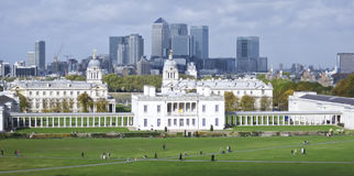 Horizonte naval real Reino Unido de Greenwich Londres de la universidad Fotos de archivo