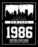 Horizonte Nueva York de la tipografía del vector Fotos de archivo