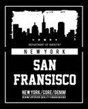 Horizonte Nueva York de la tipografía del vector Fotos de archivo libres de regalías