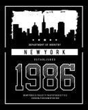 Horizonte Nueva York de la tipografía del vector Fotografía de archivo