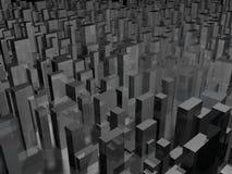 Horizonte oscuro de la ciudad Imágenes de archivo libres de regalías
