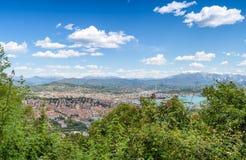 Horizonte panorámico de la colina, Italia de Spezia del La Fotos de archivo libres de regalías