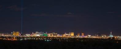 Horizonte panorámico de Las Vegas Foto de archivo libre de regalías