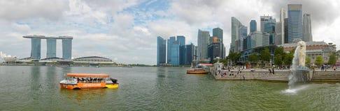 Horizonte panorámico de Singapur fotos de archivo libres de regalías