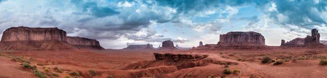 Horizonte panorámico del valle del monumento Fotografía de archivo