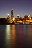 Horizonte parcial de Chicago imagen de archivo