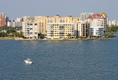 Horizonte parcial de Sarasota, la Florida Fotografía de archivo