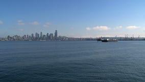 Horizonte Seattle, Estados Unidos almacen de metraje de vídeo