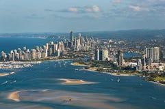 Horizonte suroriental de Gold Coast Queensland Imagenes de archivo