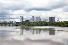 Horizonte tempestuoso de Tulsa Foto de archivo libre de regalías