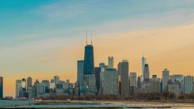 Horizonte Timelapse del ` s de Chicago almacen de video