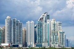 Horizonte urbano de ciudad de Panamá Foto de archivo libre de regalías