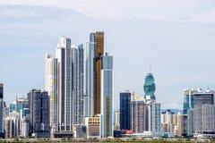 Horizonte urbano de ciudad de Panamá Imágenes de archivo libres de regalías