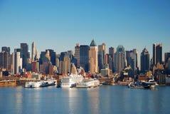 Horizonte urbano de la ciudad, New York City imagen de archivo libre de regalías