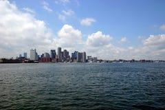 Horizonte y bahía de Boston imagen de archivo
