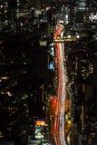 Horizonte y calles de Tokio Foto de archivo