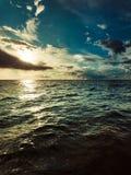 Horizonte y cielo de mar del paisaje marino Imagen de archivo libre de regalías
