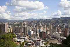 Horizonte y edificios de Caracas Fotos de archivo libres de regalías