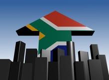 Horizonte y flecha surafricana del indicador Imagenes de archivo