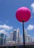 Horizonte y linterna de Singapur Imagen de archivo libre de regalías