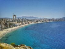 Horizonte y playa foto de archivo libre de regalías