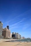 Horizonte y playa de Chicago foto de archivo libre de regalías
