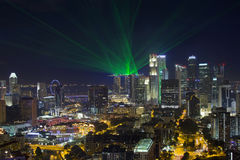 Horizonte central del distrito financiero de Singapur Foto de archivo libre de regalías