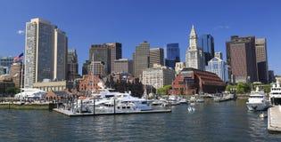 Horizonte y puerto de Boston foto de archivo libre de regalías