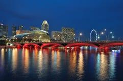 Horizonte y río de Singapur Fotografía de archivo libre de regalías