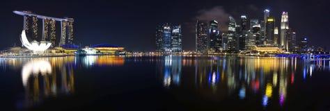 Horizonte y río de Singapur Fotografía de archivo