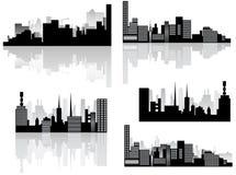 Horizonte y sombra de la ciudad Imágenes de archivo libres de regalías
