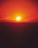 Horizonte y Sun Imagen de archivo libre de regalías