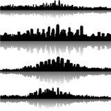 Horizontes de la ciudad stock de ilustración