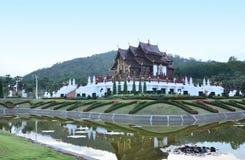 Horkumluang tempel i Chiangmai Arkivbilder