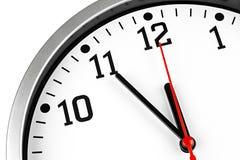 horloge 5 à 12 Images stock