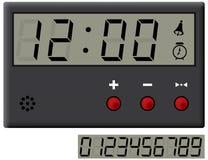 Horloge à cristal liquide. Photographie stock libre de droits