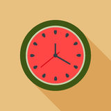 Horloge abstraite de pastèque Concept d'heure d'été Photos libres de droits