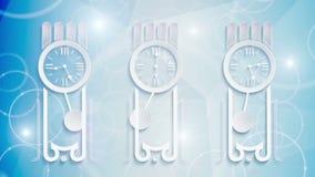 Horloge abstraite faite une boucle illustration stock