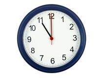 Horloge affichant 11 heures Images libres de droits