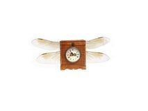 Horloge antique avec des ailes Photo stock