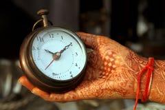 Horloge antique de main Photographie stock libre de droits