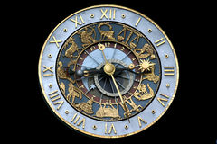 horloge astrologique image stock