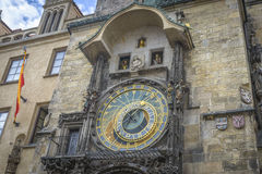 Horloge astronomique à Prague Photos stock
