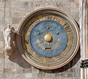 Horloge astronomique, Duomo, Messine, Sicile, Italie Image libre de droits