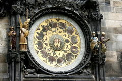 Horloge astronomique, Prague Image stock
