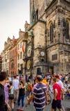 Horloge astronomique sur vieux hôtel de ville à Prague Photos stock